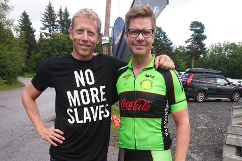 Kenneth Kristiansen fra Lørenskog og Stein Magnus Olafsrud før start.