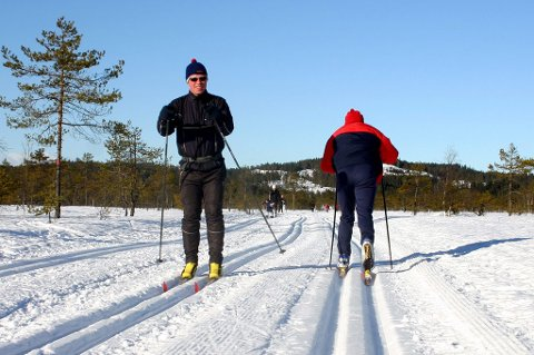Fantastiske skiforhold: Skiføret i Romeriksåsen holder seg godt i det kjølige været, og de fleste steder er det rikelig med snø.Foto: Ola Einbu
