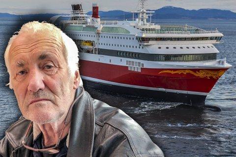 Kyrre Grepp (76) er alt annet enn fornøyd med halloween-cruiset han høyst ufrivillig havnet på.