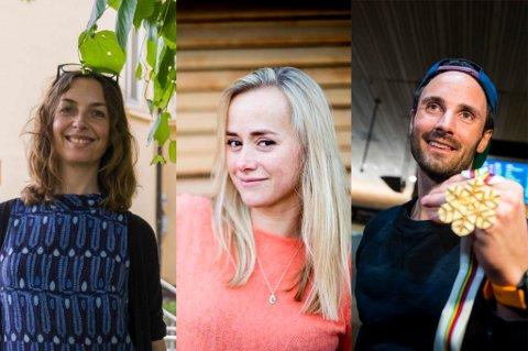 STERKT FELT: Kirkens Bymisjon (her representert ved Nina Sundstedt), Tale Maria Krohn Engvik (Helsesista), og VM-helt Hans Christer Holund kan alle bli «Årets romeriking».