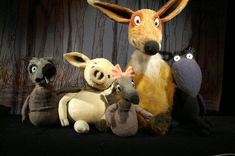 Reven og grisungen og de andre dyrene i Tutomaten