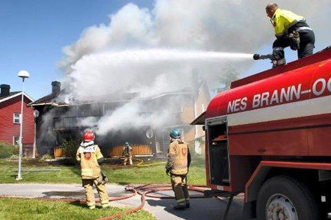BEKYMRET: Brannmesterne i Nes er bekymret over svekket beredskap.