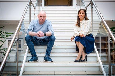VOKSER: Konstituert ansvarlig redaktør Lars Lier og administrerende direktør Kristina Fritsvold Nilsen er fornøyd med utviklingen.