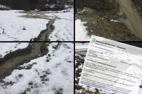 SENDTE INN DETTE: Naturvernforbundet i Lillestrøm var i januar i år på befaring i ravinen Strandengevja for å se på forholdene. De reagerte på flere av tingene de kom over og sendte bildene og en bekymringsmelding til kommunen.