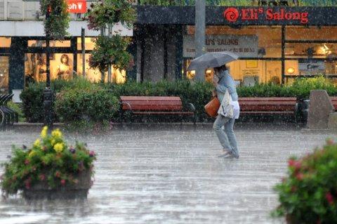 VÅTT HØSTVÆR: Meteorologisk institutt melder om jevnt med nedbør utover uka.