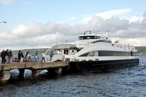STØTTE: Buskerud fylkeskommune lover penger til forprosjektet Fjordbanen-Urban Water Shuttle. Prosjektet har som måL å erstatte dagens hurtigbåter med elektrisk drevne ferjer.