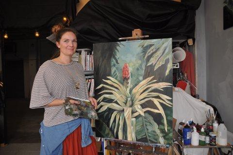 FORNØYD: Katharina Zahl Fagervik har sitt atelier og galleri på Tofte.