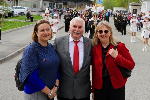 TOPP TRE: Fra venstre: Ragnhild Hartviksen, Ivar Granum og Marianne Riis Rasmussen - alle fra Arbeiderpartiet.