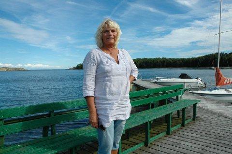 Hytteparadis: Grethe Gulbrandsen har hatt hytte på Yxney siden 2003. Hun tilbringer gjerne hele sommeren i ferieparadiset.