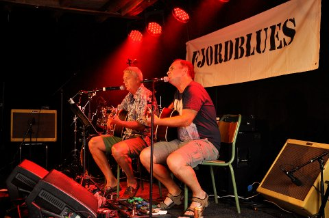 Fjordblues 2015. Ansgar Ødegård og Oddvar Bøe.