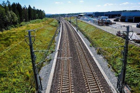KAN STOPPE OPP: Mens utbyggingen av dobbeltspor går etter planen nord i fylket, er det mer usikkert hva som skjer sør for Tønsberg. Bildet er tatt på Barkåker i Tønsberg.