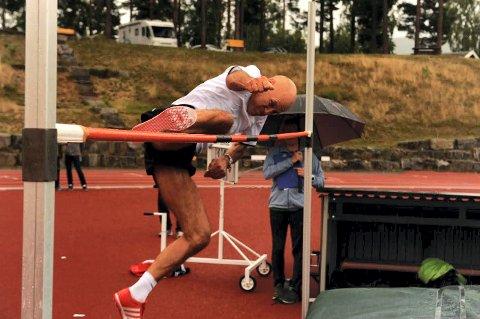 HØYDEHOPP: Ulf Tudem under norgesmesterskapet i august i år.