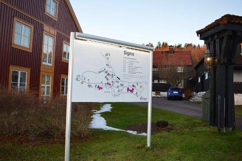 STOR ARBEIDSPLASS: Signo har 450 ansatte på flere steder i Andebu og 50 i Sandefjord.