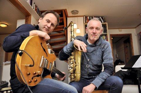 SETTER SAMMEN STJERNELAG: Hans Mathisen (t.v.) og Petter Wettre får med seg sine europeiske favorittmusikere på eksklusive konserter i Vestfold.