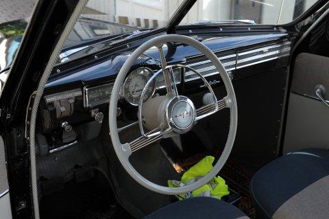 Volvo: Klassisk svenskt interiør fra  1957.