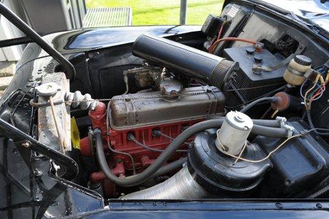 Motor: Henriksens Volvo har en B 16A på 4 sylindre og 60 HK.