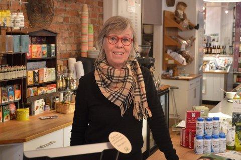 40 ÅR: Gunilla Stokkland har drevet butikk i 40 år.