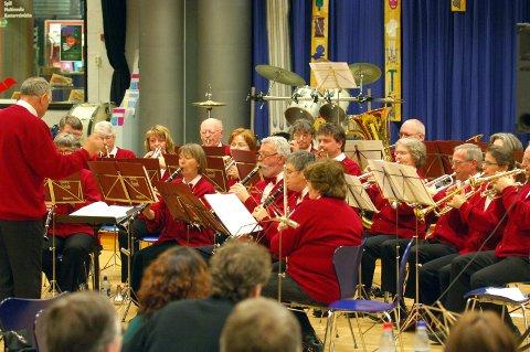 Veteraner: Sande og Mosserød Foreldrekorps (her fra en tidligere samling) er konsertens arrangører.