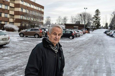 NYBYGG: Her, øst for dagens sykehjem på Nygård, foreslår Eivind Spetalen et nybygg med plass til 88 beboere.