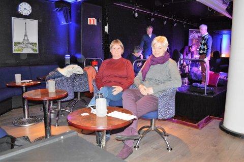 GOD STEMNING MED JAZZ: Venninnene Ellen Merete Waallann og Ann-Kristin Eng skal tilbake om 14 dager. Det er helt sikkert.