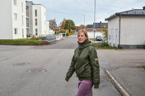 FORTETTING:  Her, i den nederste delen av Skogveien, mot Frederik Stangs gate, kan det bygges fire etasjes leilighetsbygg på den ene siden, foreslår Katja Buen i Asplan Viak overfor Sandefjord kommune.