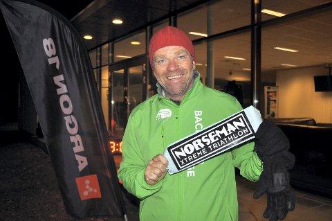STARTKLAR: Per-Erik Stickler Holm er klar for mange lange treningsøkter i månedene som kommer. 3. august 2019 stiller han til start i Norseman.