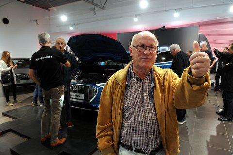 KJØPTE: Arnstein Andersen (72) falt nok en gang for favorittmerket hans Audi. Denne gangen ble det elbil.