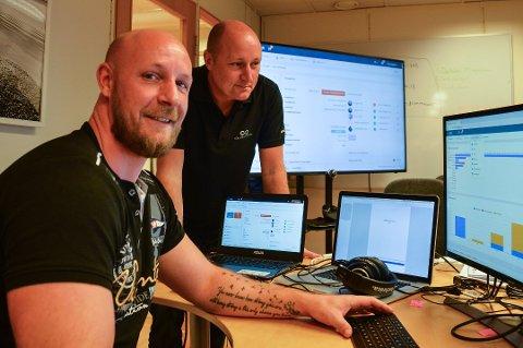 Gründere: Goliath Systemer AS er nominert til Gründerprisen 2018. Her er Daglig leder Kim André Heggenes og salgssjef Jørgen Lind.