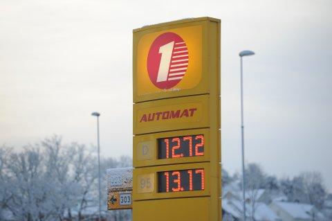 RIMELIGST: På Automat stasjon på Hasle er dieselprisen nede på 12,72. For bensin er prisen 13,17.