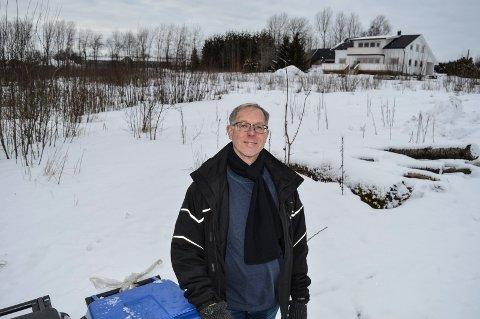 NYE BOLIGER: Bak Arvid Johannessen - mellom Plantasjen, Sandefjordsveien og Saturnus vei - vil USBL bygge 26 boliger.