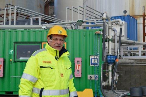 STOLT: Land chef Ketil Thorsen er glad for at svenske Preem har fått innpass i Norge via anlegget på Jahrestranda Næringspark.