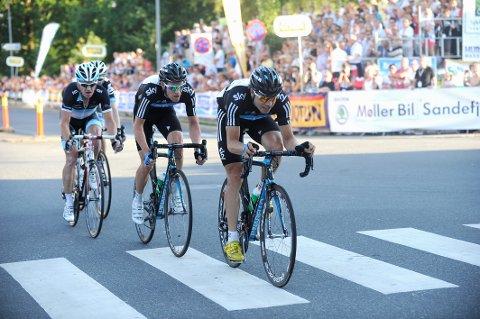 VANT I 2011: Edvald Boasson Hagen (i front) er en av sykkelstjernene som kommer til byen den kommende uka.