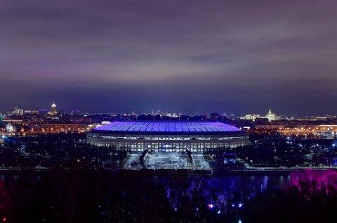 IKON: Luzhniki stadion i Moskva, der både åpningskampen og finalen skal spilles.