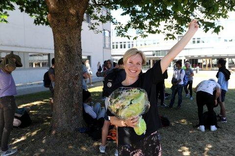 ÅRETS ANSATT: Anne Kvammen (48), lærer på SVGS, ble stemt frem til beste lærer i konkurranse med 2000 andre lærere i Vestfold.
