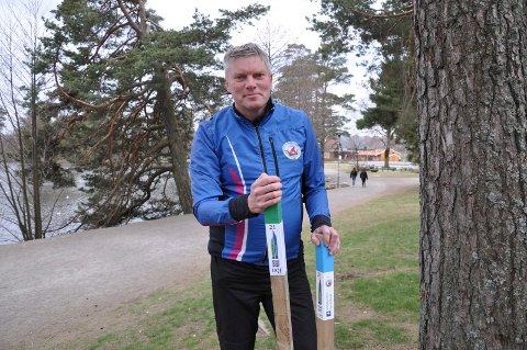 NY SESONG: Det blir Stolpejakt i Sandefjord også denne sesongen. Innen 1. mai vil Per Erik Larsen og Sandefjord Orienteringsklubb plassere ut mange stolper med qr-koder.