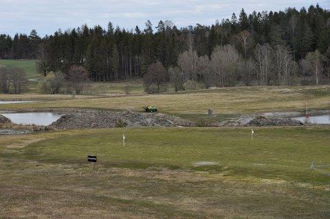 Banen på Sandefjord golfklubb er i langt bedre stand enn på samme tid i fjor. FOTO: Leif Åge Holand