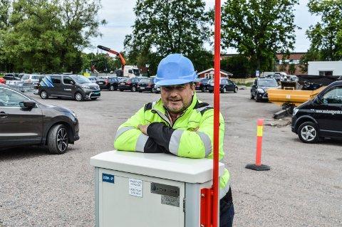 TIVOLITOMTA: – Fra sankthans blir det 25 prosent flere parkeringsplasser på Tivolitomta, forteller Kent Anders Jensen, avdelingsleder for nyanlegg i Sandefjord kommune.