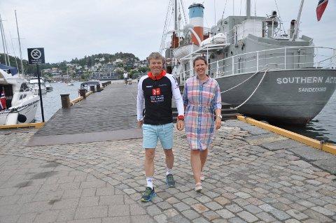 SNART KLAR: Per-Erik Stickler Holm har de siste månedene trent målrettet mot sitt livs konkurranse, Norseman Xtreme. Kjæresten Anita Kirkeberg Hansen har vært en god støtte. De gleder seg begge til 3. august.
