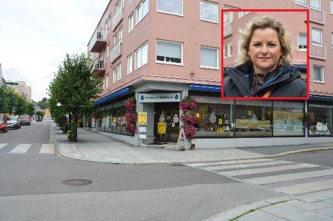 FLYTTER INN: Banksjef Beate Haakestad og fem-seks ansatte flytter inn i Christiania Glasmagasins lokaler i Jernbanealleen.