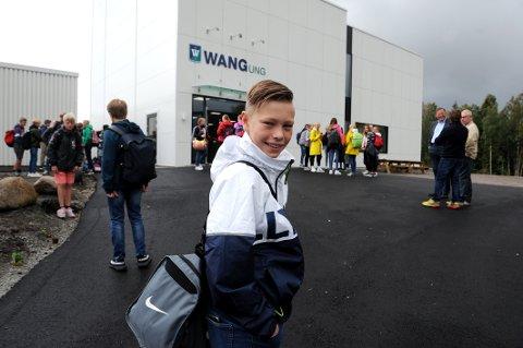 PRIVATSKOLE: Philip Østby Kristiansen (12) hadde sin første skoledag på den idrettsprofilerte skolen Wang Ung Sandefjord.