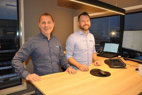 VEKST: Geir Mathisen og Svein Tore Hedberg startet i det små i 2018. Nå har de over 20 ansatte og oppdragene står i kø.