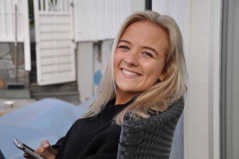 KOM SEG HJEM: Sandefjord-jenta Viktoria Saastad (20), som studerer i København, rakk hjem til Sandefjord i grevens tid, før Danmark stengte grensen.
