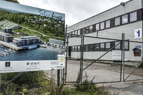 STANS: Det er fortsatt stille på tomta til Solnes Brygge om dagen. Nå er eiendommen lagt ut for tvangssalg i regi av Vestfold tingrett.