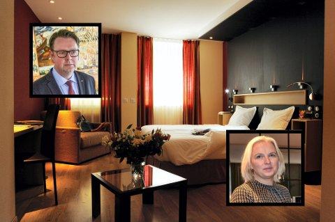 KRISE: Kari-Ann Norén og Thomas Ødegård er blant hotelldirektørene som ser mørkt på høstens konferanse- og seminarsesong.