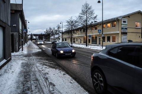 KILGATA: Trafikken i Kilgata i fjor lå 1.000 biler i døgnet under snittet for de tre foregående årene.