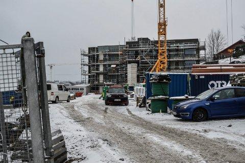 ÅSANE: Byggingen av første trinn på Åsane har kommet langt. Alle de 15 leilighetene er solgt.