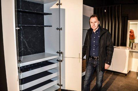 NY BUTIKK: Ivar Kummervold gleder seg til å åpne butikk nummer tre i Vestfold. Innflyttingen i Kilen er i full gang.