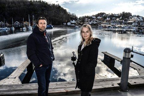 INDRE HAVN:  Her fra Kilen Brygge til nordsiden av Fjellvik båtforening foreslår Moods Eiendom å anlegge en 190 meter lang gang- og sykkelvei med bru, badebrygge og båtplasser, forteller Beate Wangberg og Øystein Davidsen.