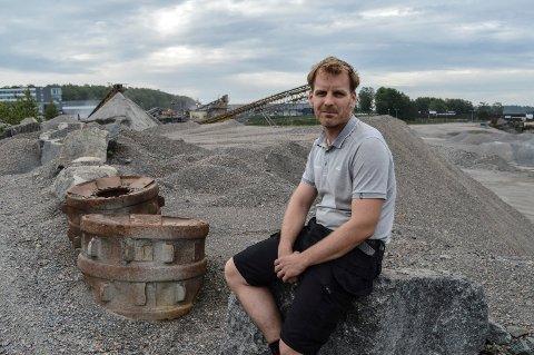 FOKSERØD VEST: Steinar Are Berg i Berg Eiendom og Forvaltning AS er én av tre private grunneiere som sammen med Veidekke Industri og kommunen har utarbeidet forslaget til reguleringsplan for det gamle pukkverket.