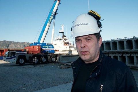 TAR IMOT: Idar Heskestad i Norsk Spennbetong håper å få plass til fleire av dei som mistar jobben hos Forsand Betong på grunn av nedlegginga.